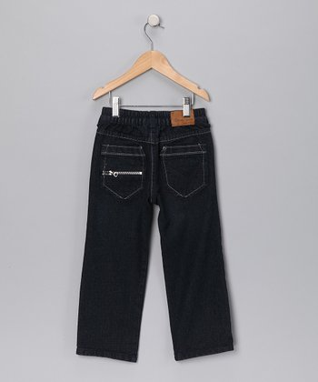 Dark Wash Zip Pocket Jeans - Toddler