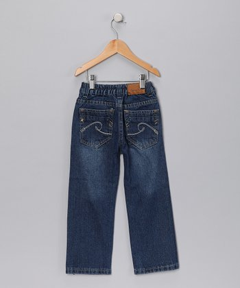 Medium Wash Swirl Pocket Jeans - Toddler