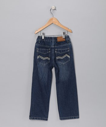 Medium Wash Zigzag Jeans - Infant, Toddler & Boys