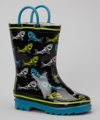 Black Shark Sign Rain Boot