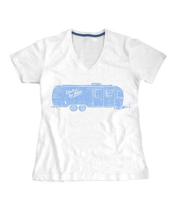 White Airstream Organic Tee - Women