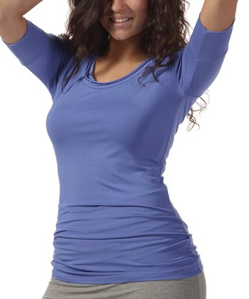 Periwinkle Saria Scoop Neck Top