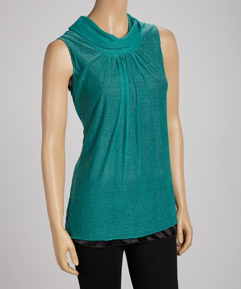 Green Layered Sleeveless Top