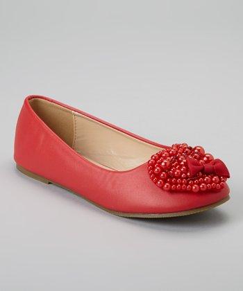 QQ Girl Red Stella Flat