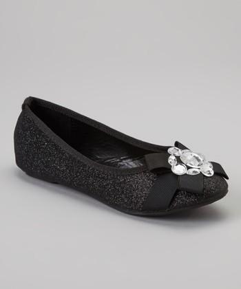 Black Glitter Cupcake Flat