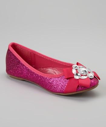 Fuchsia Glitter Cupcake Flat