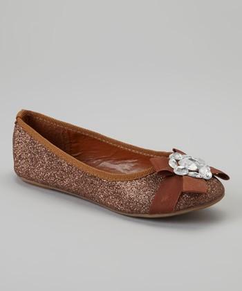 Brown Glitter Cupcake Flat