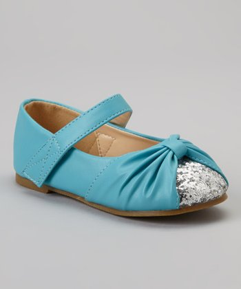 Teal & Silver Glitter Cupcake Mary Jane