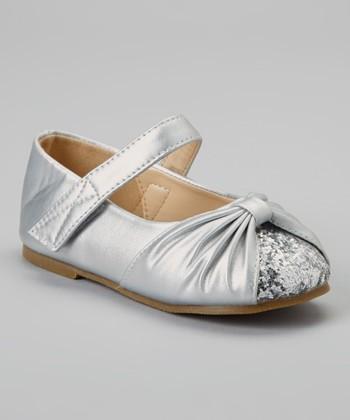 Silver Glitter Cupcake Mary Jane