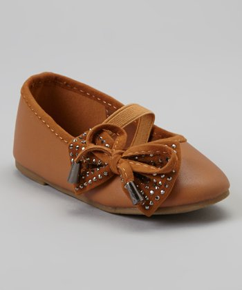 Brown & Silver Stud Cupcake Mary Jane