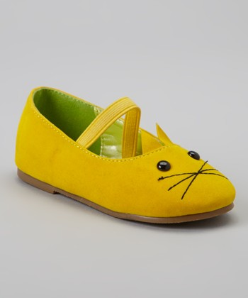 Yellow Kitten Cupcake Mary Jane