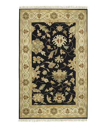 Black Alexandria Wool Rug