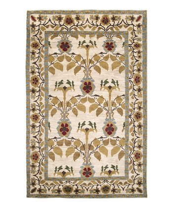 Ivory & Red Apollo Wool Rug