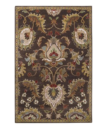 Chocolate & Gold Apollo Wool Rug