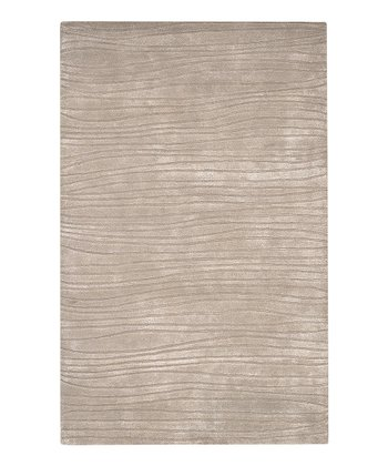 Beige Wave Artist Studio Wool Rug