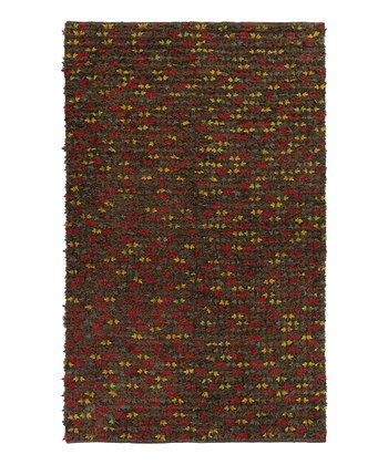 Brown Autumn Wool Rug