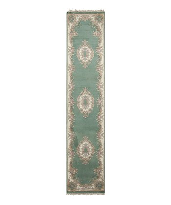 Teal Avalon Wool Rug