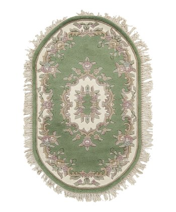 Green Avalon Wool Rug