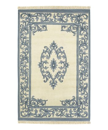 Blue Bengal Wool Rug