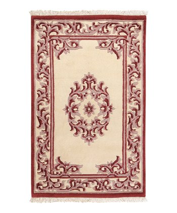 Red Bengal Wool Rug