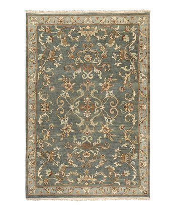 Teal & Gray Babylon Wool Rug