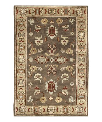 Brown Caspian Wool Rug