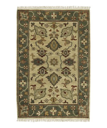 Light Gold Caspian Wool Rug