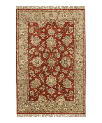 Brown Clay Estate Wool Rug