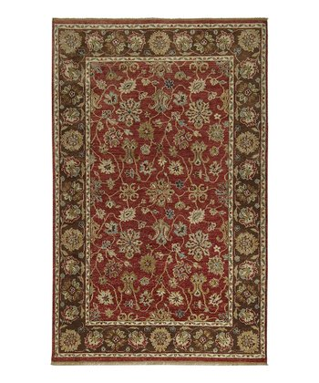 Red & Chocolate Estate Wool Rug