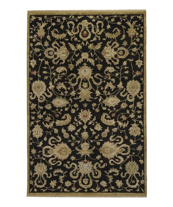 Black & Gold Estate Wool Rug