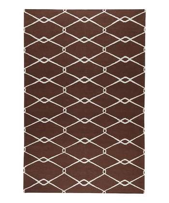 Brown & Ivory Fallon Wool Rug