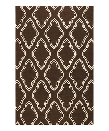 Dark Chocolate & Ivory Fallon Wool Rug