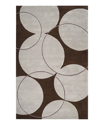 Bone & Coffee Bean Goa Wool Rug