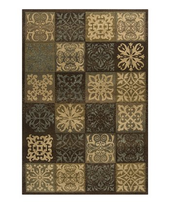 Raw Umber & Dark Chocolate Tile Harmony Rug