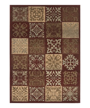 Auburn & Fatigue Green Tile Harmony Rug