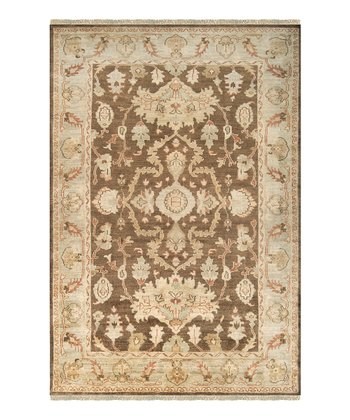 Beige & Light Brown Hillcrest Wool Rug