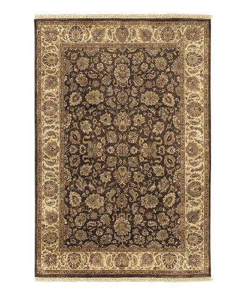Brown Heirloom Wool Rug