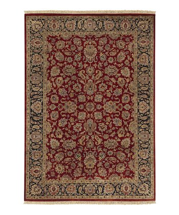 Burgundy Heirloom Wool Rug