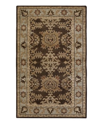 Chocolate & Tan Haven Wool Rug