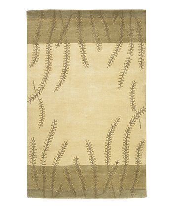 Gray & Cream Mugal Wool Rug