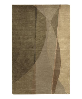 Beige Mugal Wool Rug