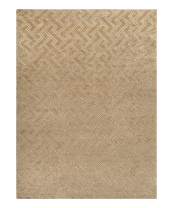 Golden Tan Mugal Wool Rug