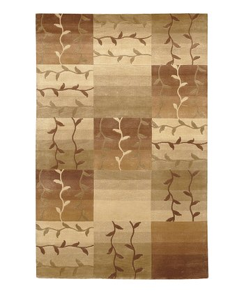 Caramel Tile Mugal Wool Rug