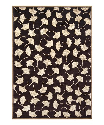 Chocolate & Gold Mugal Wool Rug