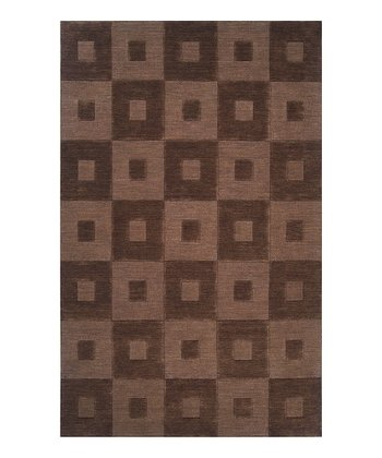 Dark Brown Indus Valley Wool Rug