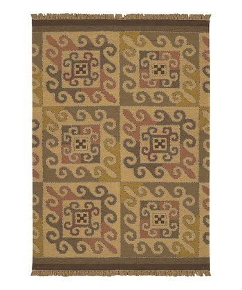 Gold Jewel Tone II Wool Rug