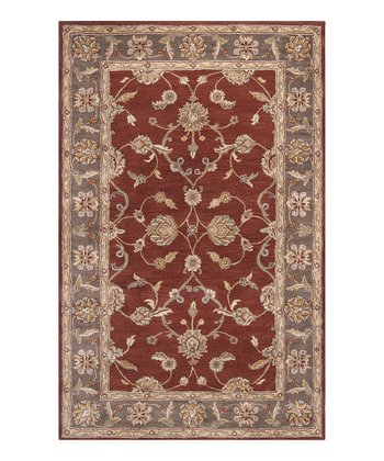 Wine Kensington Wool Rug
