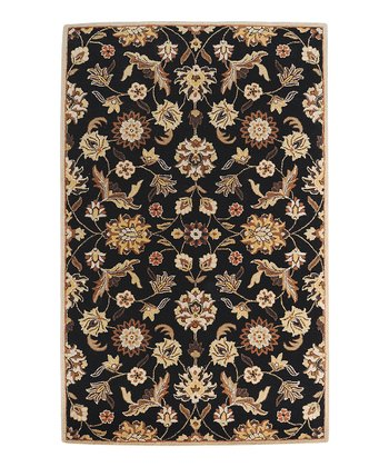 Beige & Black Legion Wool Rug