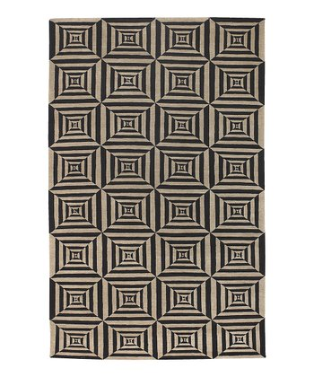 Black & Tan Lhotse Wool Rug