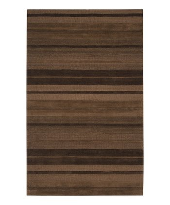 Brown Mystique Wool Rug